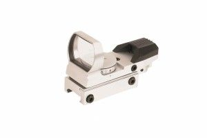 Dot sight vert & rouge multi reticules silver