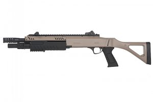 Fusil a pompe FABARM STF 12 compact 11 Spring 3 coups tan / noir