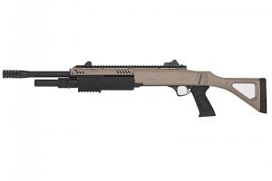 Fusil a pompe FABARM STF 12-18 Spring 3 coups tan / noir