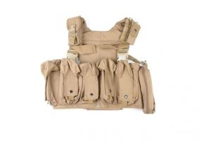 Chest rig Swiss Arms beige 10 poches
