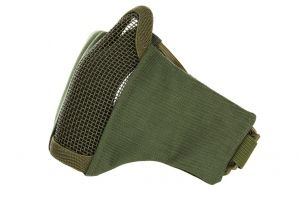 Demi masque grillage neoprene olive