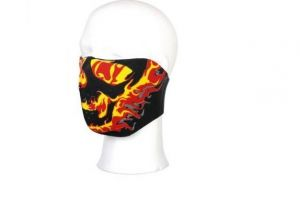 demi masque flamme