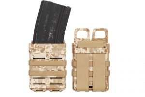 Porte chargeur fast mag 5.56 digital desert x2