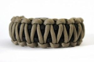 bracelet paracorde king cobra noir et tan