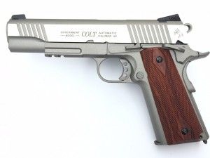 Colt 1911 Rail Gun Stainless edition co² Blow-Back