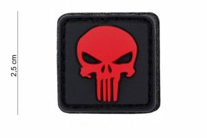 patch punisher rouge pvc