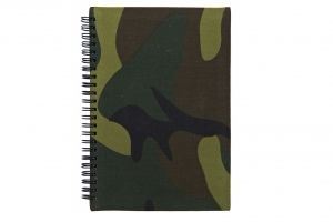 Carnet waterproof woodland a5