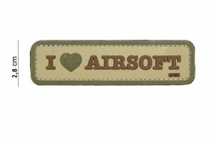 patch i love airsoft camo
