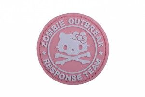 patch hello kitty zombie pvc