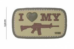 patch i love my M4 coyote