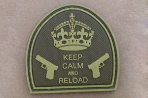 patch keep calm pvc camo