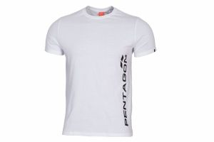 T-Shirt Pentagon VERTICAL white