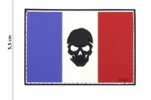 patch 3D PVC flag skull France