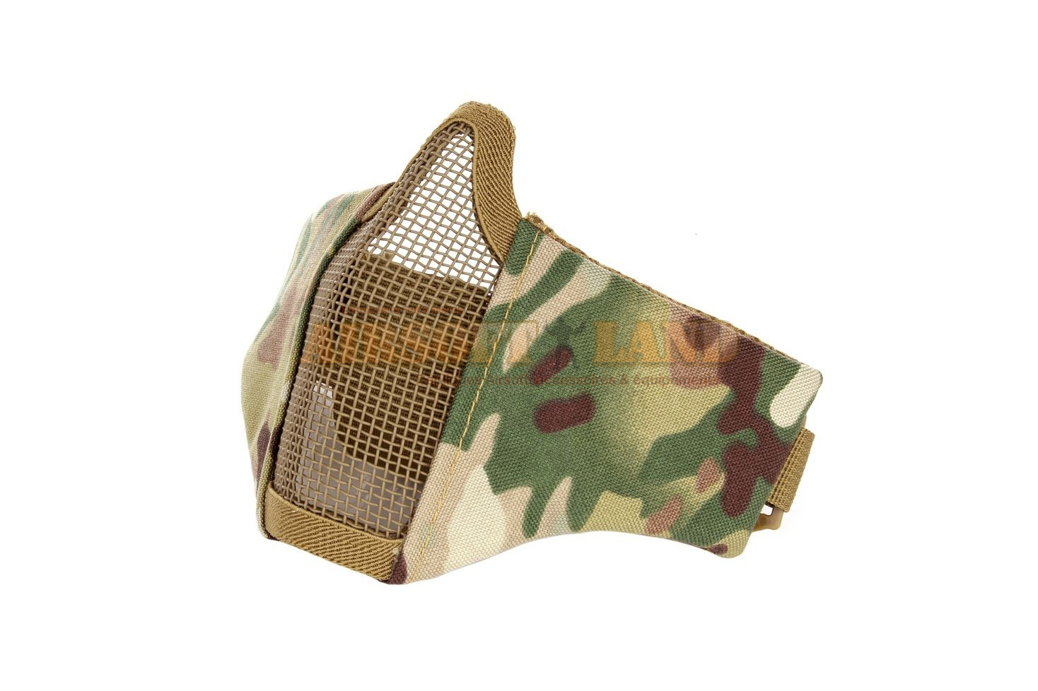 Demi masque grillage neoprene multicam