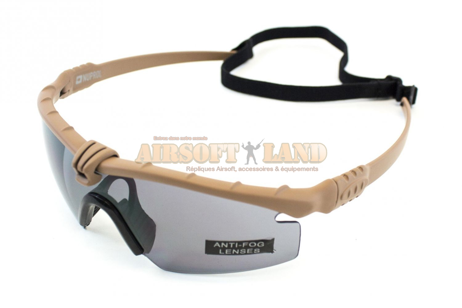 Lunettes Battle Pro Thermal Tan/Smoke Nuprol