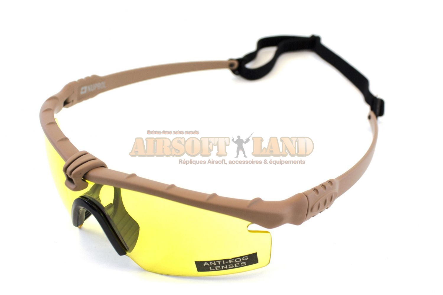 Lunettes Battle Pro Thermal Tan/Jaune Nuprol