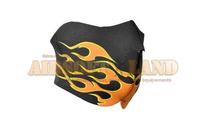 Demi masque neoprene type Flamme