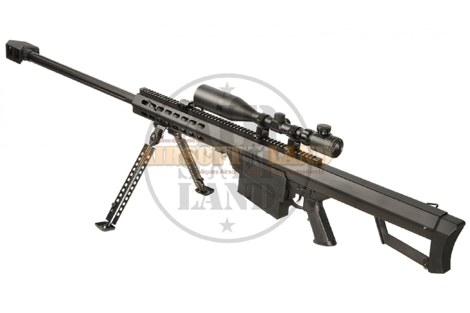 Barrett M82A1 snow wolf aeg full metal noir