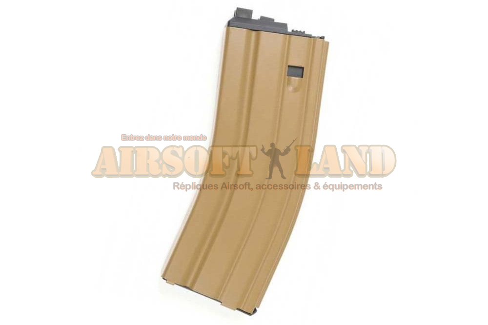 Chargeur CO² 30 billes pour SCAR/M4 OPEN BOLT Version tan
