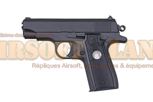 REPLIQUE PISTOLET A BILLES G2 G.2 FULL METAL ALLIAGE ZINC SPRING 0.3 JOULE AIRSOFT AC80019