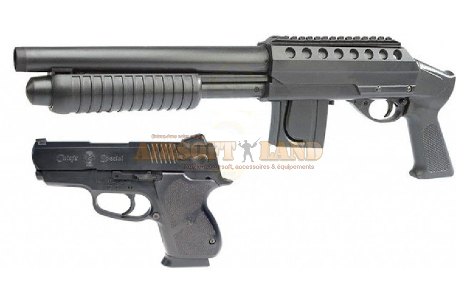Mossberg tactical kit shotgun + pistol