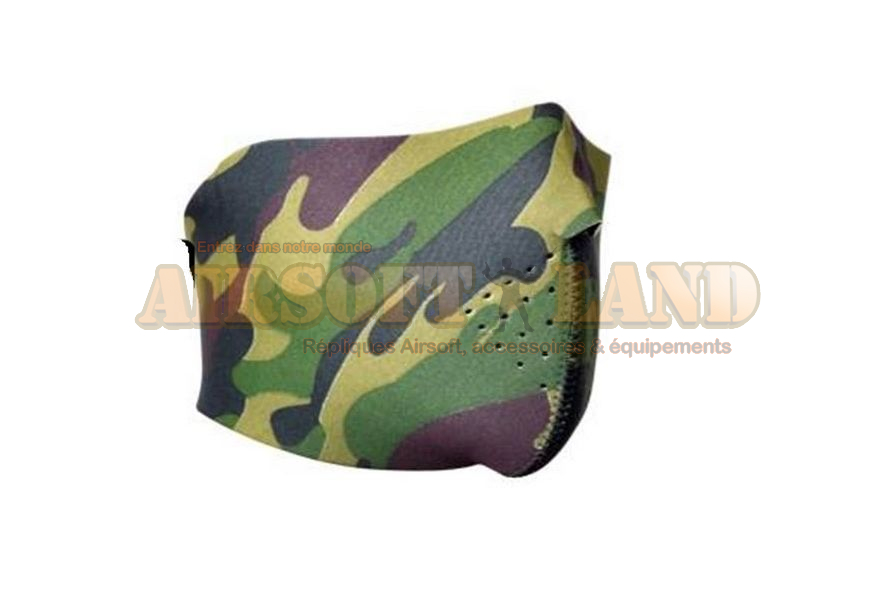Demi masque neoprene type camouflage