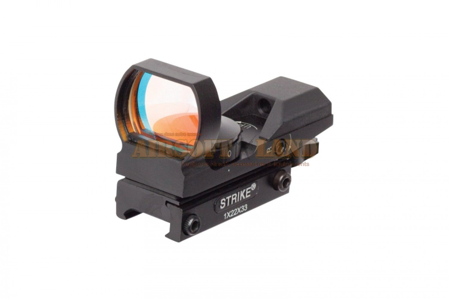 Dot sight multi reticules (x 7) 22x33 mm strike systems