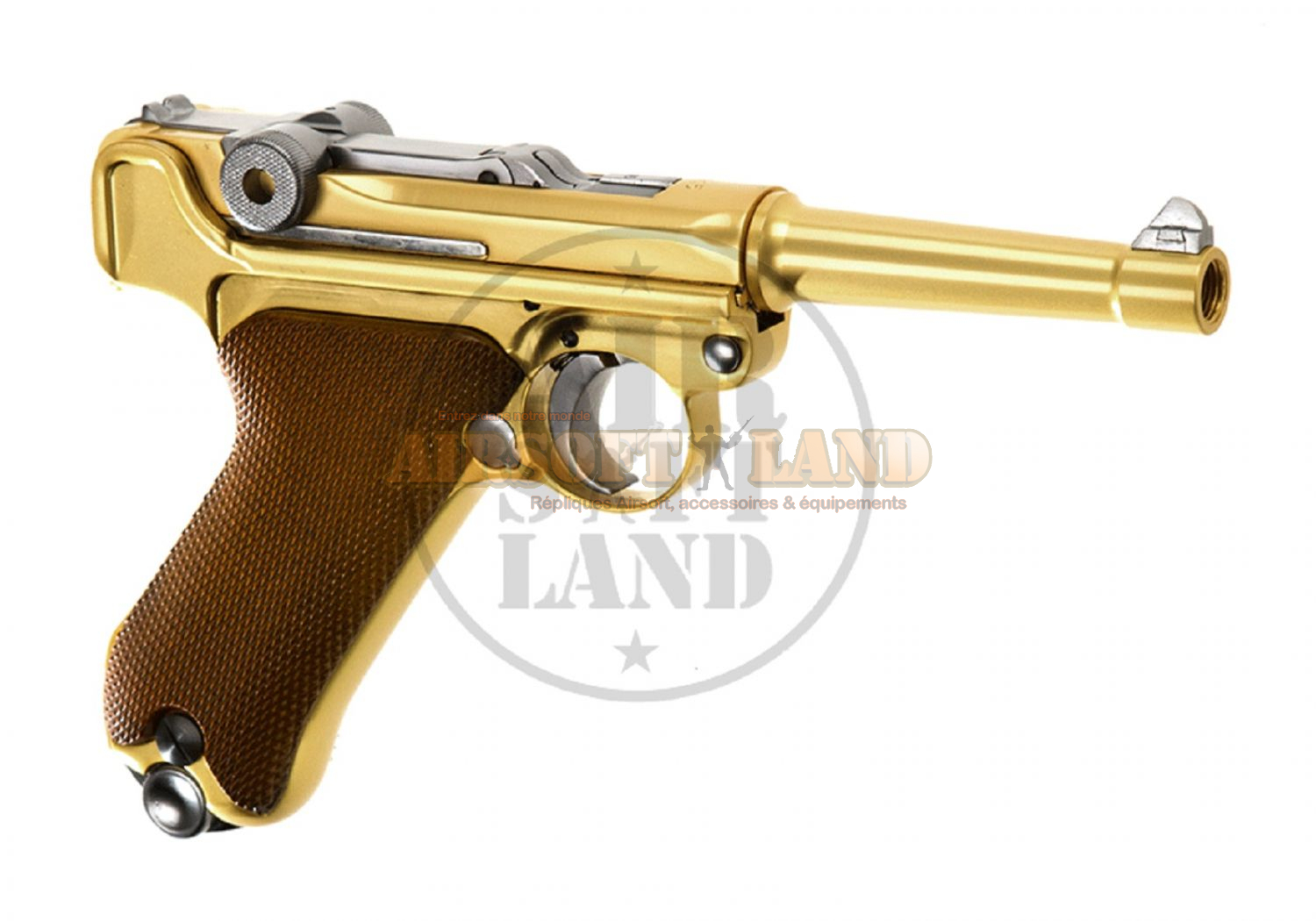 Luger P08-S gold WE