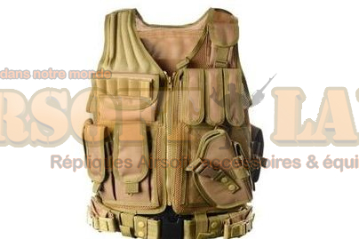 Gilet tactique tan