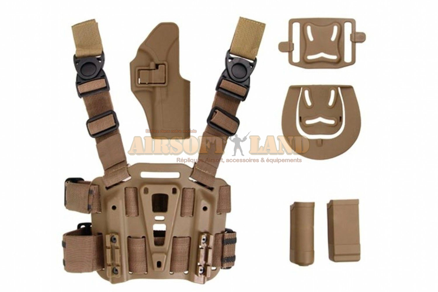 Holster droitier Glock thermo moule a retention tan