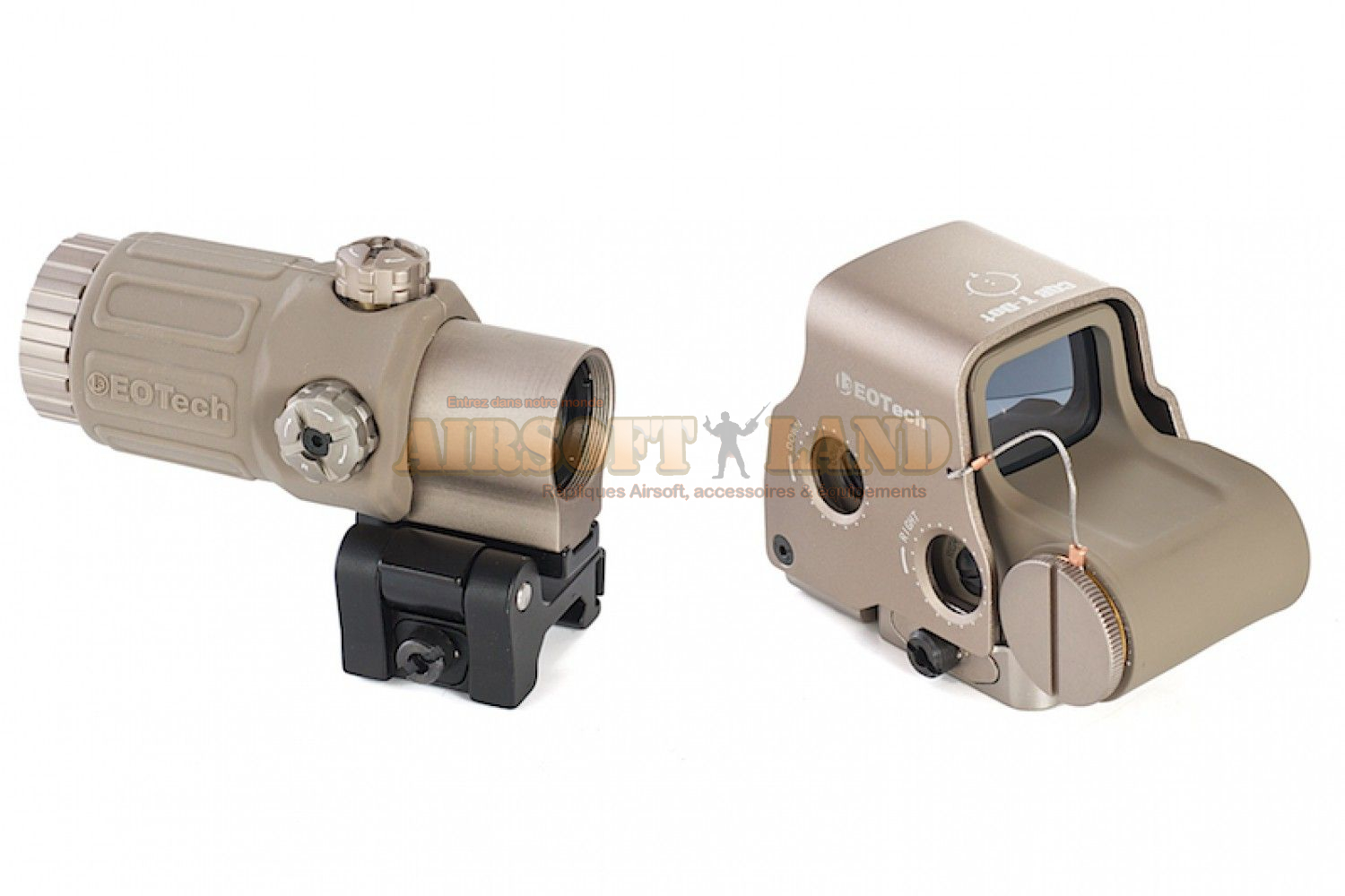 Holosight XPS3 & Magnifier G33 tan combo pack