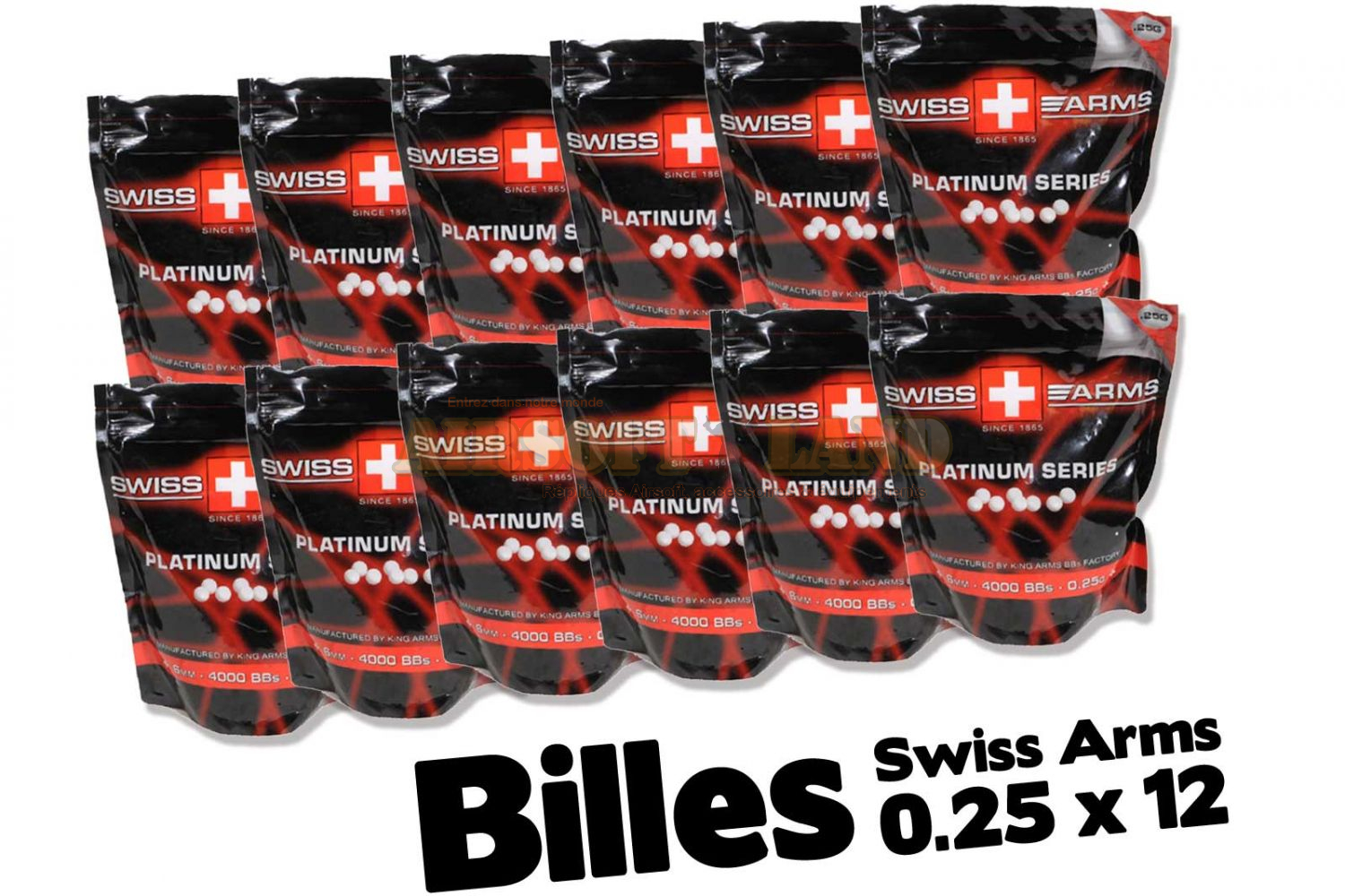billes 0.25g king arms x 12
