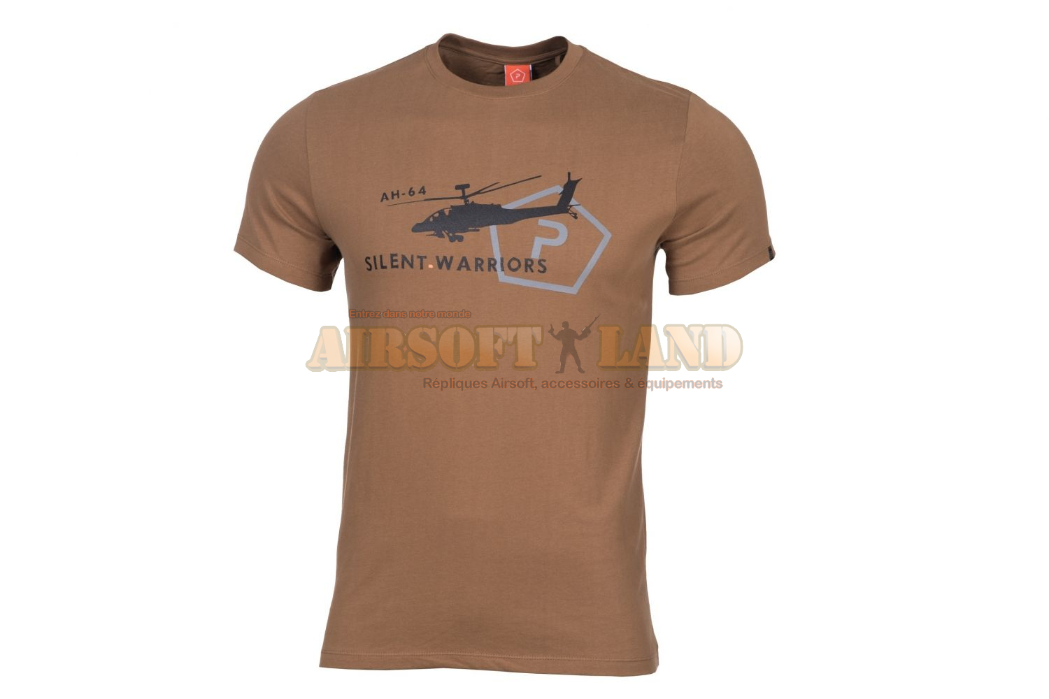 T-SHIRT PENTAGON HELICOPTER COYOTE