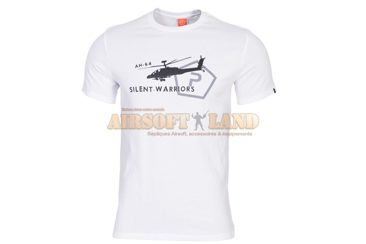 T-SHIRT PENTAGON HELICOPTER white